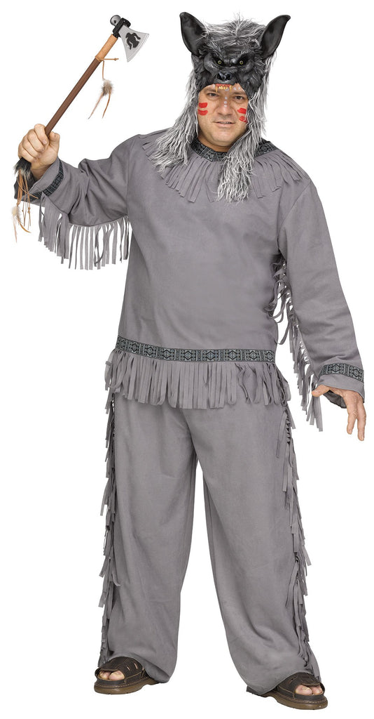 Wolf Warrior Costume, Native American Indian, Plus Size - Nevermore Costumes