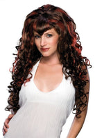 Passion Eva Long Wig, Brown with Highlights, One Size - Nevermore Costumes