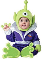 Baby's Mini Martian Costume, Green and Purple - Nevermore Costumes