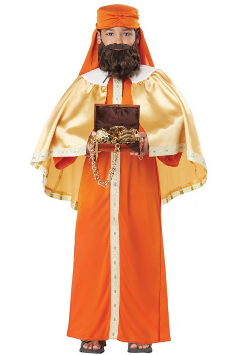 Boys Gaspar Wise Man Costume, Three Kings - Nevermore Costumes