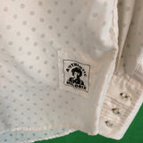 Jim Hendrix Experience Cream Button Down Long Sleeve Embroidered Shirt, S