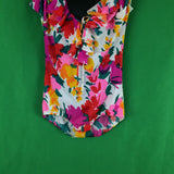 Vintage Miss Elaine Vibrant Bold Marc Floral 2pc Maxi Dress, Bodysuit and Skirt