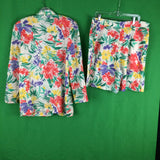 Vintage 80's Counterparts Floral Blazer and Shorts Set, Jacket Culottes