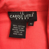 Carole Little Sport Coral Pink Beaded Denim Jacket, sz 10