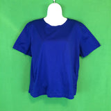Liz Claiborne Royal Blue T-shirt Top, Round Neck, Large