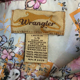 Wrangler Womens Snap Front Satin Floral Western Shirt, Rodeo Large
