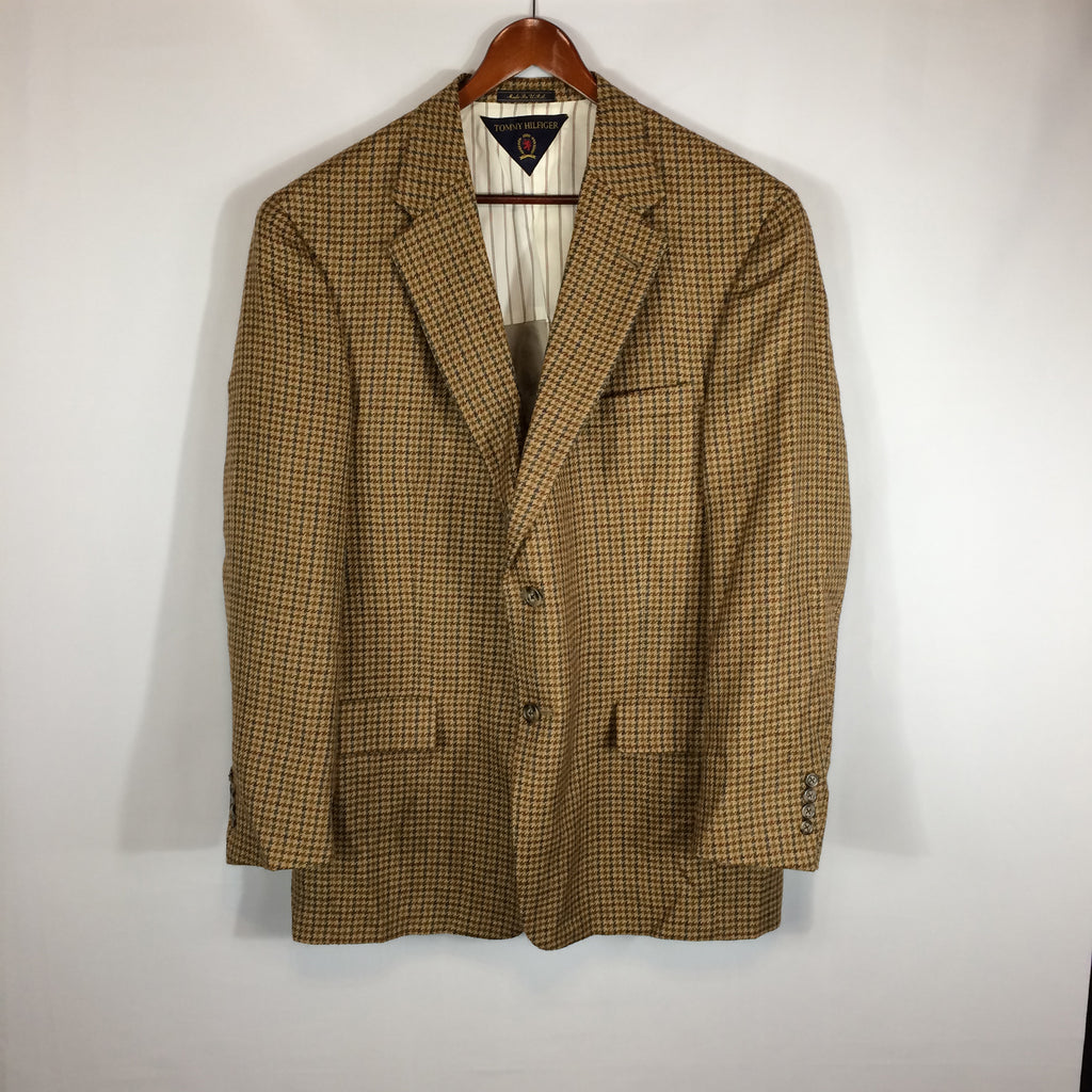 Tommy Hilfiger Brown Tweed jacket 44R, Fully Lined 2 Button Sports Coat Blazer