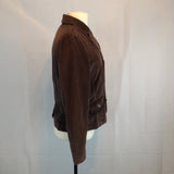 Talbots Chocolate Brown Corduroy Fitted Blazer Jacket, 14