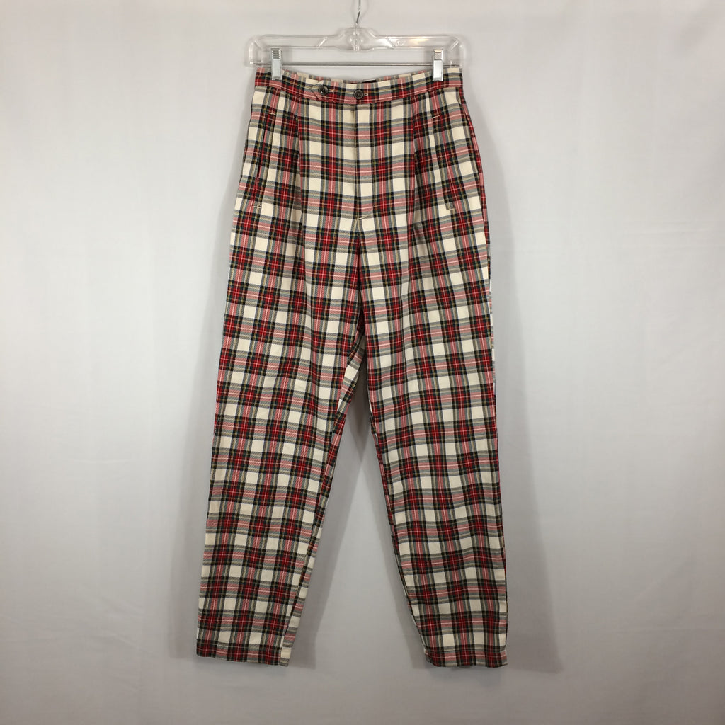 Vintage Gap Tartan Plaid Pants, Womens, Red White. size 9/10, 28x30