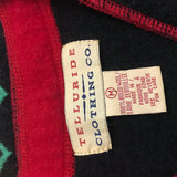 Telluride Clothing Co Ugly Christmas Embroidered Sweater Vest, Black Boiled Wool Med