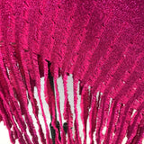 Awesome Patti LaBelle Metallic Pink Sweater Poncho with Fringe, One Size NWT