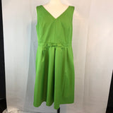 Isaac Mizrahi for Target Green Fitted A-Line Sun Dress, Lined, Size 18
