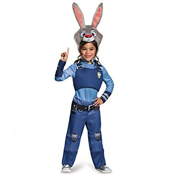 Judy Hopps Classic Zootopia Disney Costume, X-Small/3T-4T - Nevermore Costumes