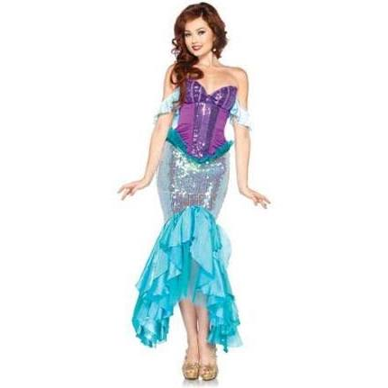 Disney Adult Deluxe Princess Ariel Costume, Little Mermaid - Nevermore Costumes