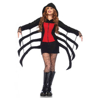 Cozy Black Widow Spider Costume, Black and Red Dress - Nevermore Costumes