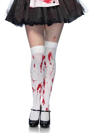 Bloody Zombie Thigh Highs - Nevermore Costumes