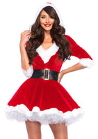 Sassy Mrs. Claus Costume, Red - Nevermore Costumes