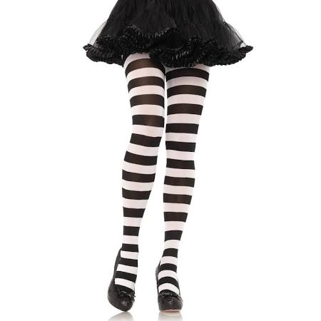 Wide Striped Tights - Nevermore Costumes