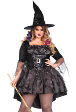Leg Avenue Women's Plus-Size Black Magic Mistress - Nevermore Costumes