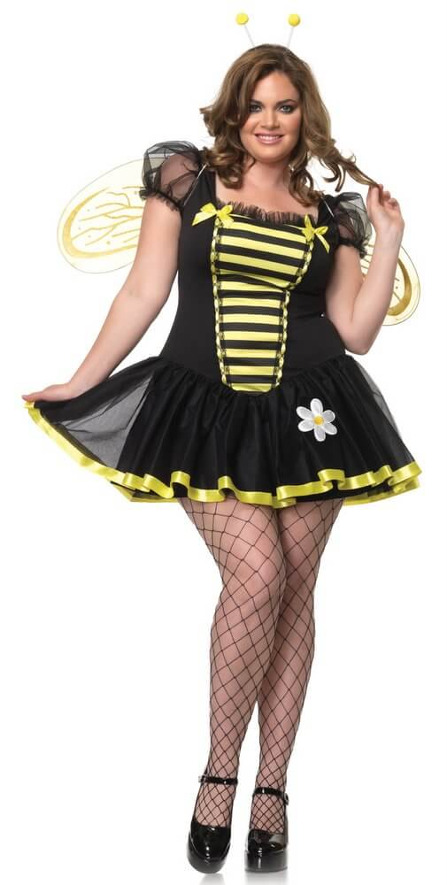 Leg Avenue Women's Plus-Size Daisy Bee Costume - Nevermore Costumes