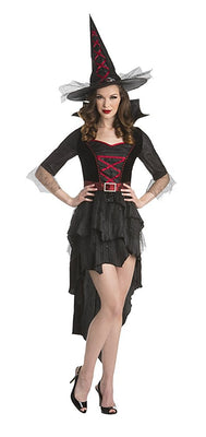 Sexy Midnight Witch, Dress and Hat - Nevermore Costumes
