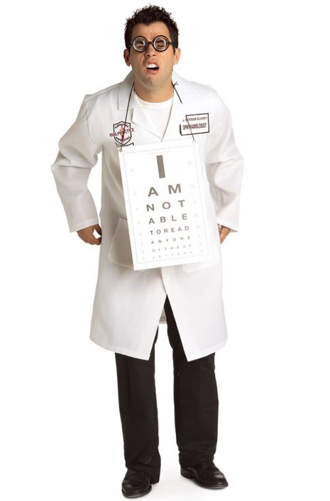 Dr. Seymour Clearly Ophthalmologist Adult Costume - Nevermore Costumes