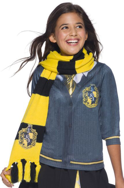 Harry Potter Deluxe Scarf, Hufflepuff Hogwarts House - Nevermore Costumes