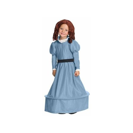 Beans from Rango Pioneer Long Blue Dress Costume and Wig, Medium - Nevermore Costumes