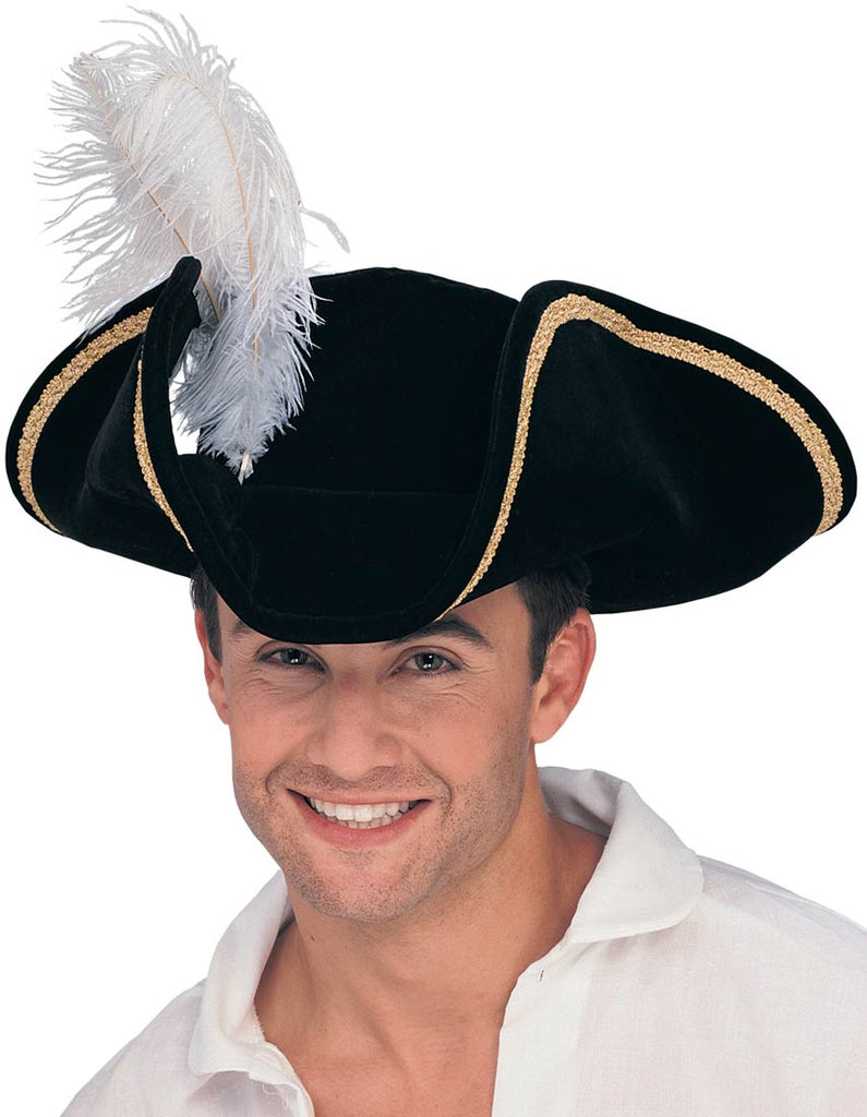 Buccaneer Tricorn Hat, Pirate Captain - Nevermore Costumes