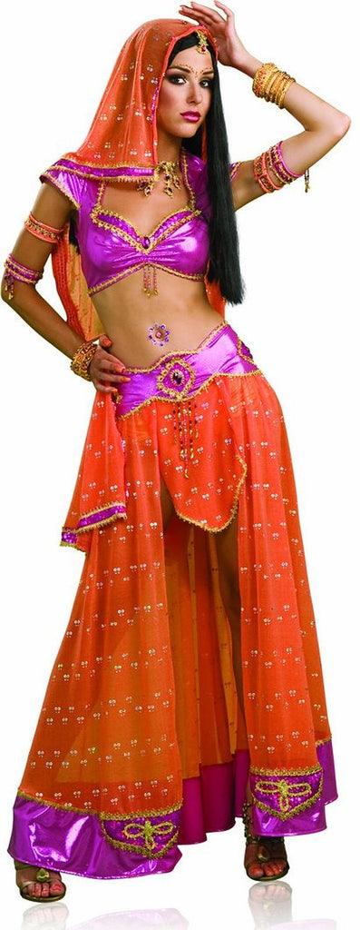 Womens Sexy Bollywood Dancer Exotic Indian Costume - Nevermore Costumes