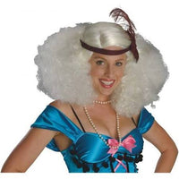 Burlesque Platinum Wig Costume Accessory, Afro, Flapper - Nevermore Costumes