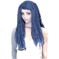 Corpse Bride Blue Yarn Wig - Nevermore Costumes