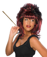 Red and Black Cruelzella Wig - Nevermore Costumes