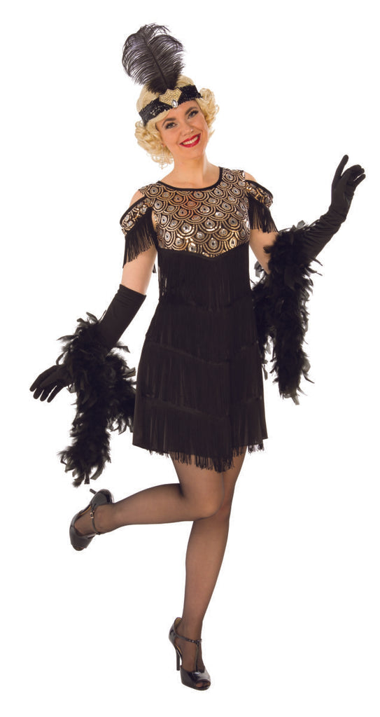 Gold and Black Flapper Costume - Nevermore Costumes