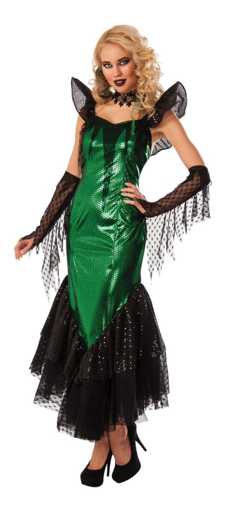 Gothic Green Mermaid Costume - Nevermore Costumes