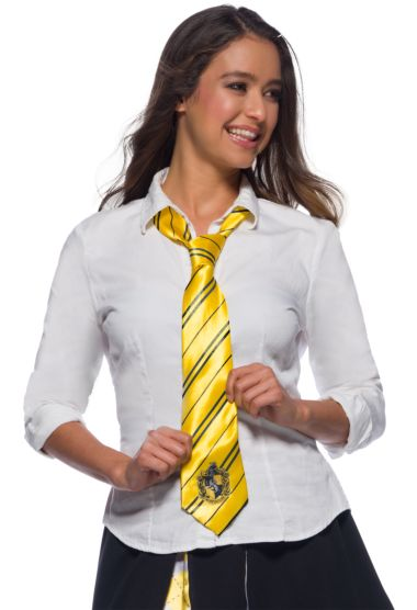Hufflepuff Tie, Harry Potter Series - Nevermore Costumes