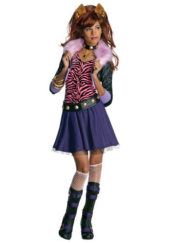 Monster High, Kids Clawdeen Wolf Costume - Nevermore Costumes