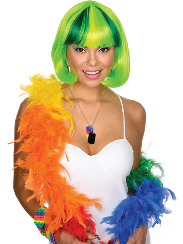 Women's Party Cutie Neon Green Wig - Nevermore Costumes