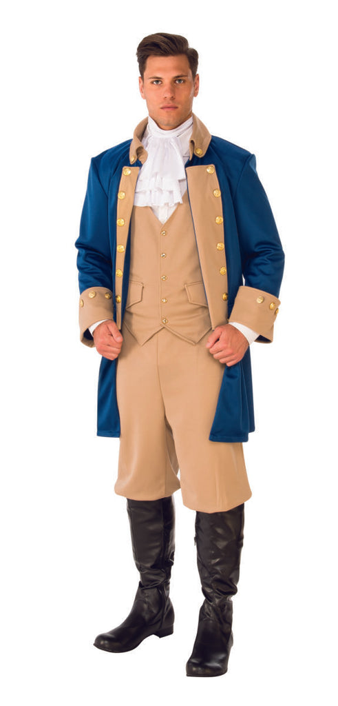 Patriotic Man Costume, Colonial George Washington - Nevermore Costumes
