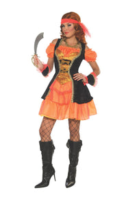 Womens Sexy Tangerine Pirate Costume - Nevermore Costumes
