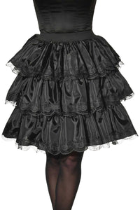 Black Ruffle Steampunk Skirt Costume, Opus Collection - Nevermore Costumes