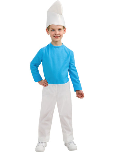 Smurfs The Lost Village, Smurf Boy Costume - Nevermore Costumes