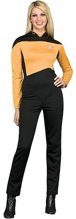 Star Trek The Next Generation Women's Yellow Operations Uniform Costume - Nevermore Costumes