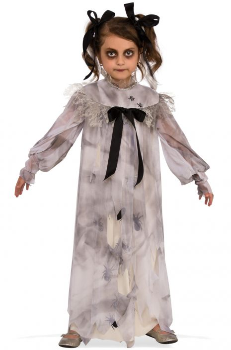 Sweet Screams Ghostly Girl Costume, Spiders - Nevermore Costumes