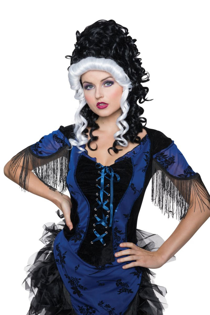 Victorian Black and White Wig - Nevermore Costumes