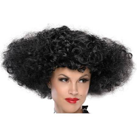 Black Let's Dance Huge Curly Wig - Nevermore Costumes