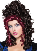 Victorian Dark Brown and Burgundy Wig - Nevermore Costumes