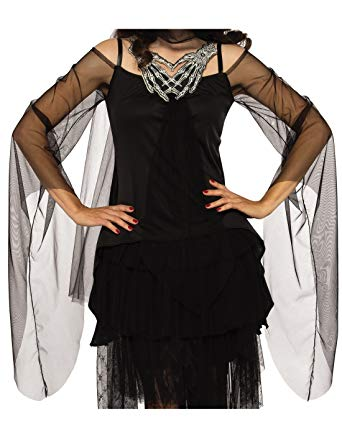Women's Skeleton's Embrace, Grim Reaper Gothic Witch Costume Top, Opus Collection - Nevermore Costumes