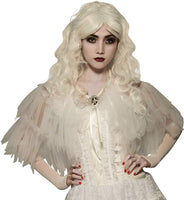 Women's White Witch Capelet, Opus Collection - Nevermore Costumes