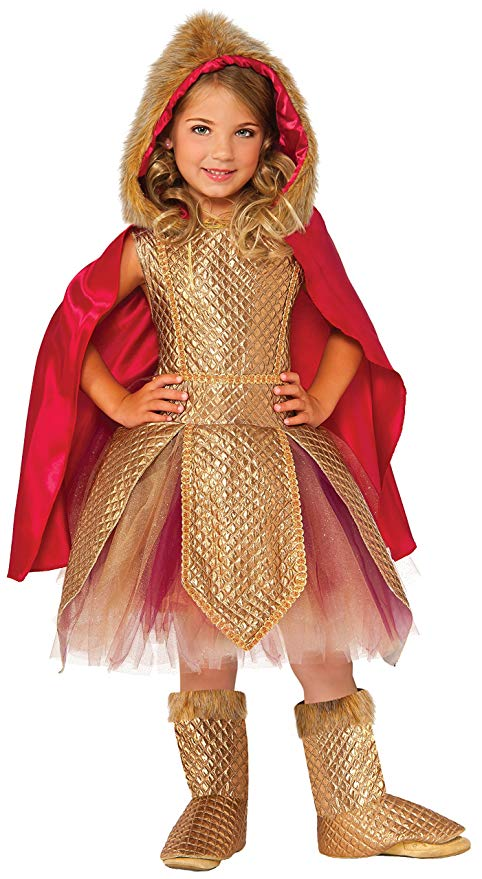 Girls Deluxe Warrior Princess Costume, Viking - Nevermore Costumes